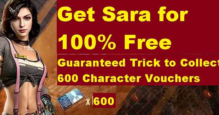 unlock Sara with free character voucher event