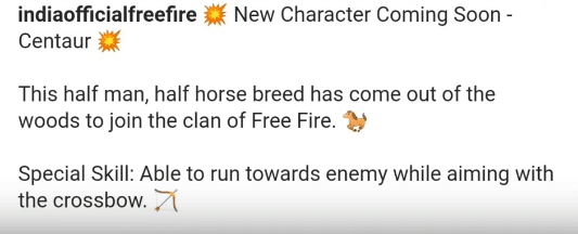 Free Fire: New Character Centaur First Look| Skill, Ability, Release Date 1