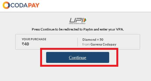 click on continue with google pay UPI