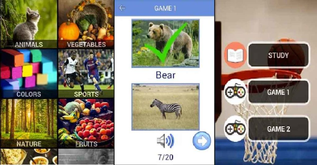 easy english learning app and gamepictures