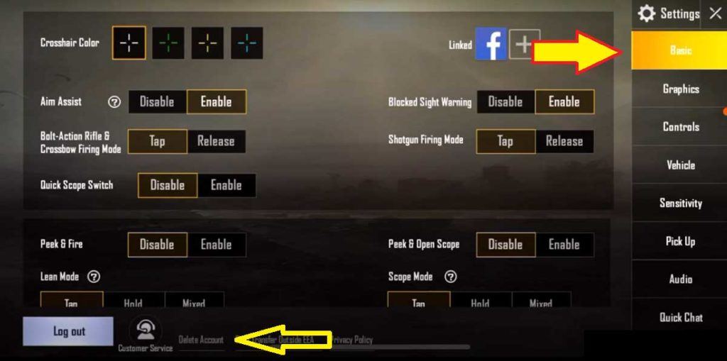 go to basic settings and click on delete account