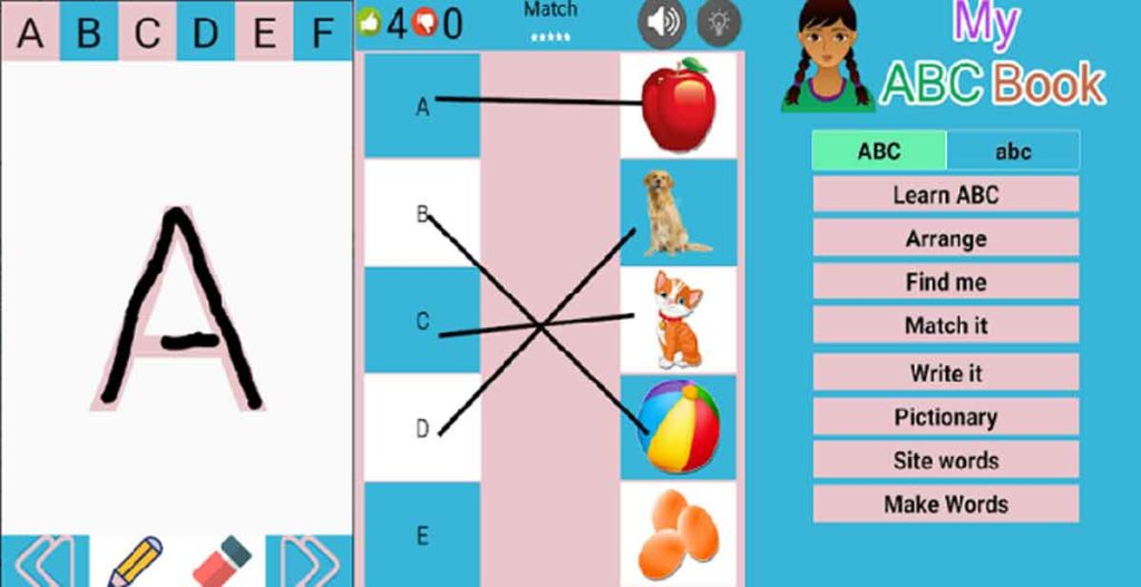 learn english from ABC to numbers