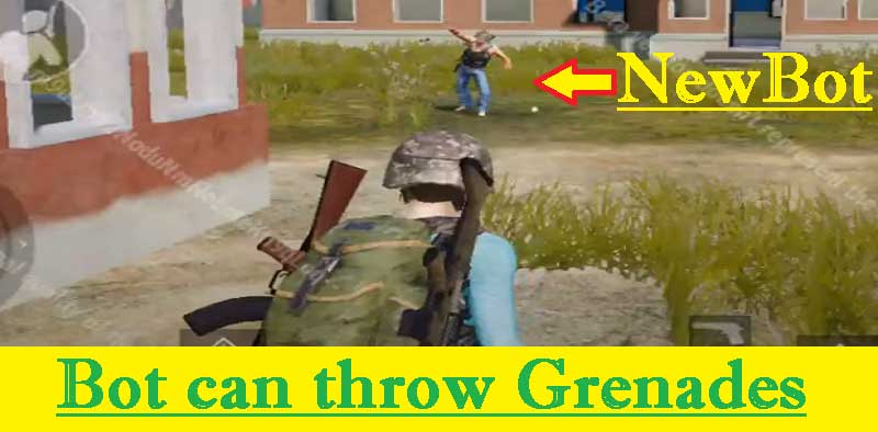 PUBG Mobile Bot Update: New Bots can use Grenade at you