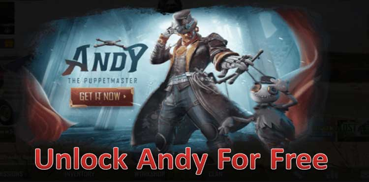 best ways to unlock Andy character for free in pubg