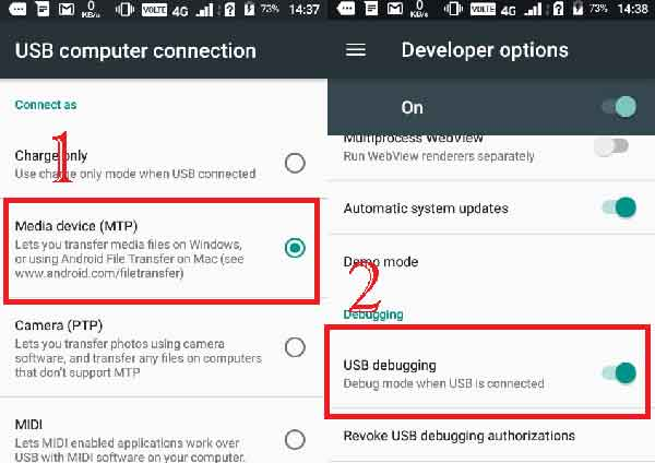 connect you android device with pc and turn on USB debugging