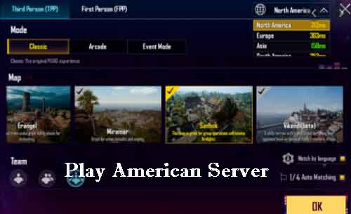 find noob lobby by playing american server