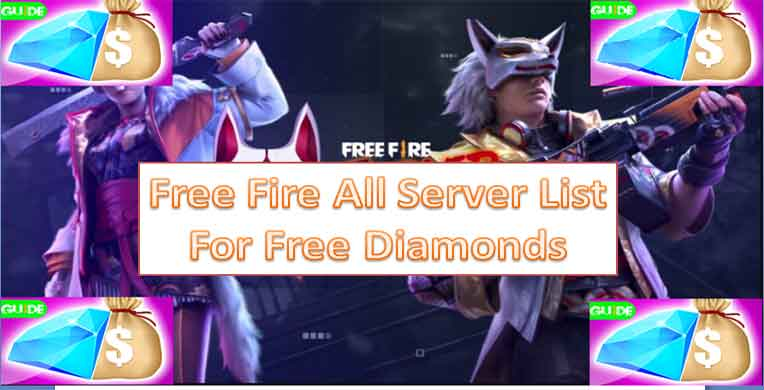 free fire server list, best server for free diamonds