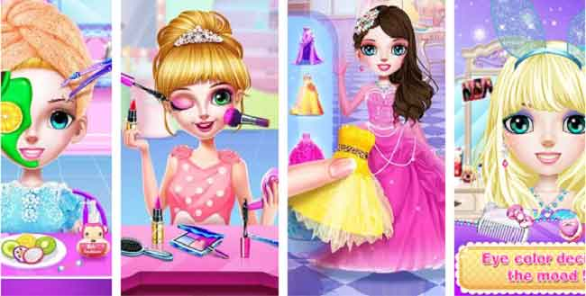 princess make up salon| makeup game for girls