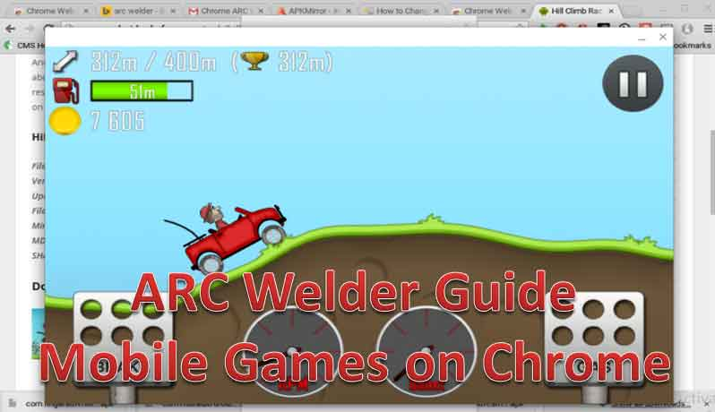 arc welder for playing mobile games on chrome browser