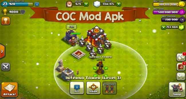 COC Mod apk can get you unlimited gems for free