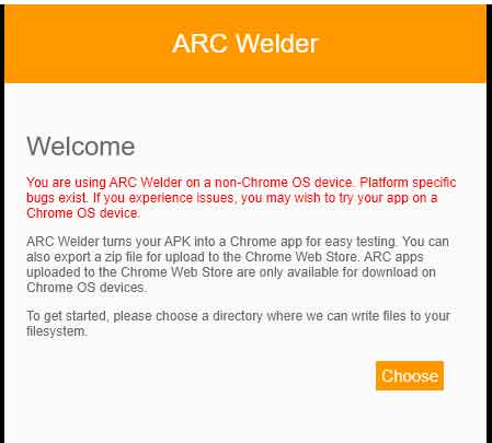 choose path location for arc welder