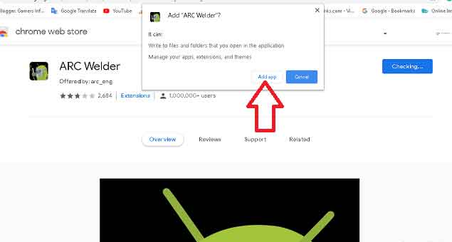 How to install ARC welder in Chrome Browser