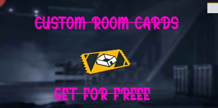 get free custom room cards in free fire