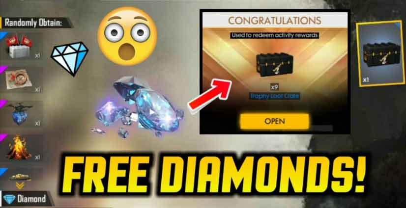 how to get 100 diamonds for free