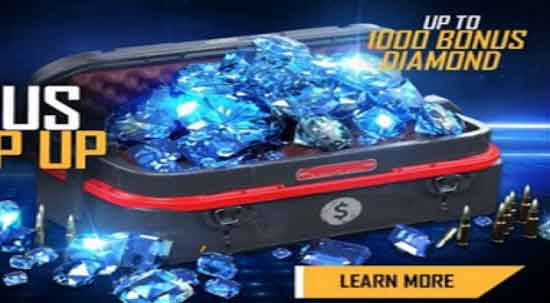 free fire 100 diamond event for free