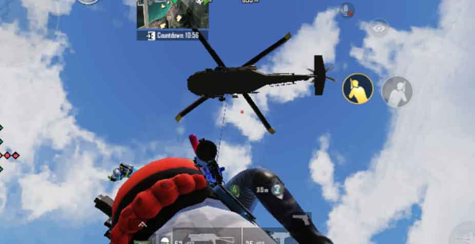 blue flare gun and helicopter in undercover mode