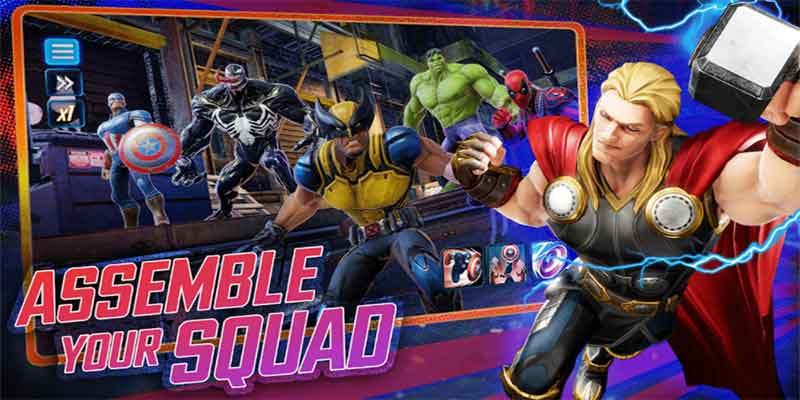 Marvel Strike force for android game