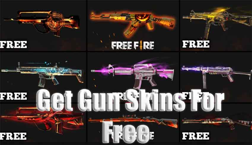 how to get free gun skins in free fire game